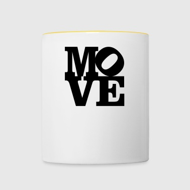 move Homage to Robert Indiana move black inside - Contrasting Mug