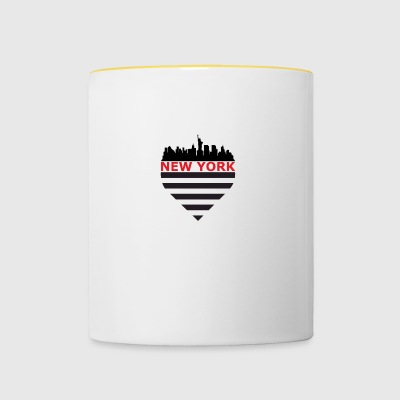 New-York Skyline - Tasse bicolore