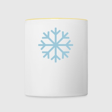 flocon de neige 2 - Tasse bicolore