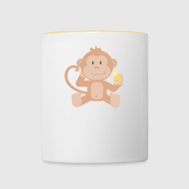 Monkey with banana - Contrasting Mug