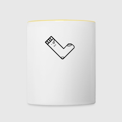 QuadratSocke YouTube Merch - Tasse zweifarbig