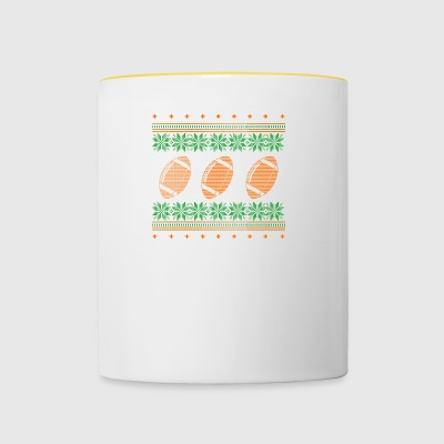 american football ugly sweater xmas gift - Contrasting Mug