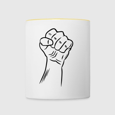 Fist / Raised fist / Revolution / Defiance - Contrasting Mug