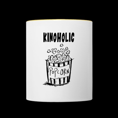 Cinema Holic Popcorn - Cinema - Movie - Gift - Contrasting Mug