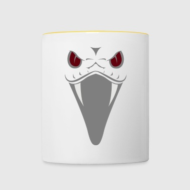 Snake with red eyes and fangs gift - Contrasting Mug
