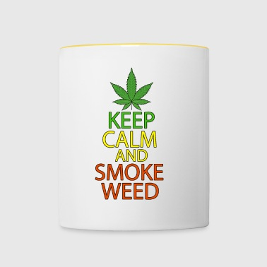 Keep Calm and Smoke Weed - Contrasting Mug