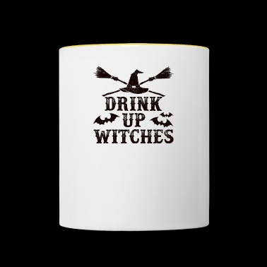 Drink Up Witches - horror - Halloween - Kubek dwukolorowy