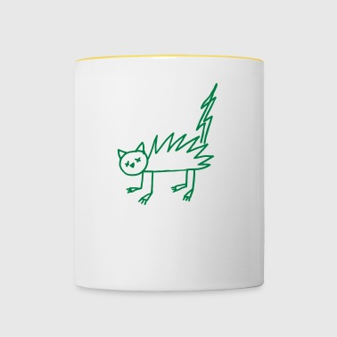Halloween Undead zombie cat flash - Contrasting Mug