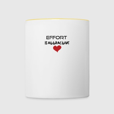 Effort is attractive - Contrasting Mug