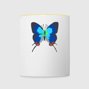 illustration papillon - Mug contrasté