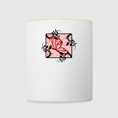 Butterfly pink logo - Contrasting Mug