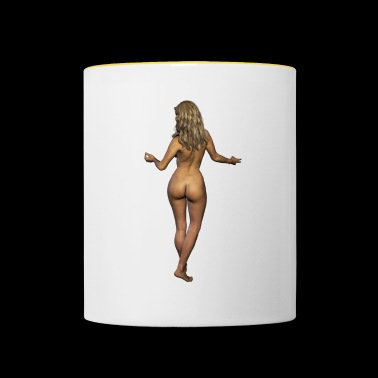 naked woman from behind erotic party gift - Contrasting Mug