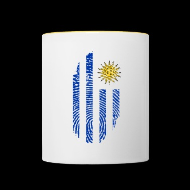 URUGUAY FINGERABPRESSION. SOUTH AMERICA SPANISH - Contrasting Mug