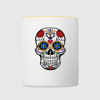 SKULL ROCK N ROLL HARD ROCK CADEAUX T-SHIRT - Tasse bicolore