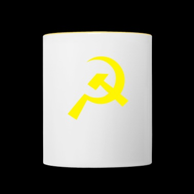 Communist Hammer Sickle Flag - Contrasting Mug