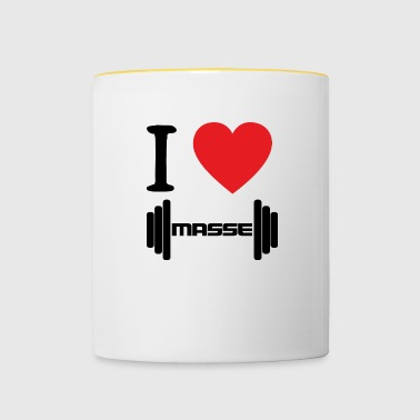 I LOVE BLACK mass - Contrasting Mug
