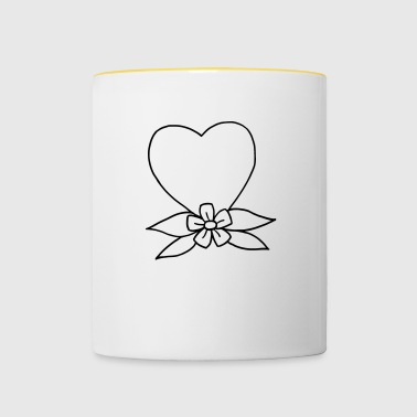 Heart traditional - Contrasting Mug