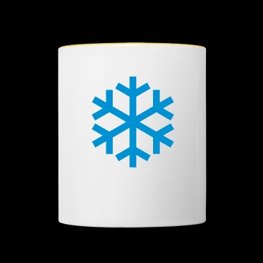 Snowflake Weather Icon Icon - Kaksivärinen muki