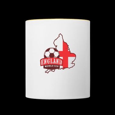 Engeland Soccer World Cup Ball Flag - Mok tweekleurig