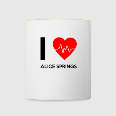 J'aime Alice Springs - I love Alice Springs - Mug contrasté