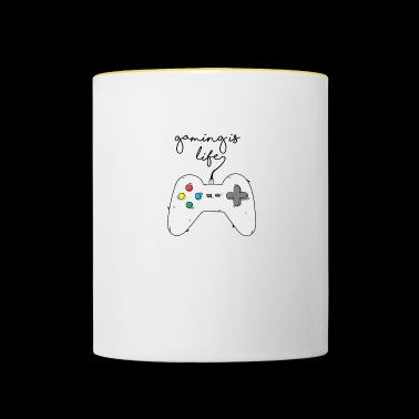 Game / Gamer / Games: Gaming is life. - Contrasting Mug