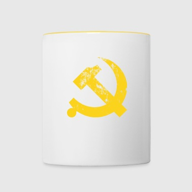 Vintage Communist Hammer and Sickle - Contrasting Mug