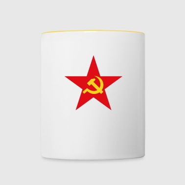 Communist star with hammer and sickle - Contrasting Mug