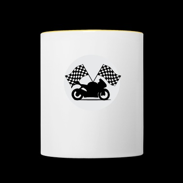 Motorcycle racing flags - Contrasting Mug