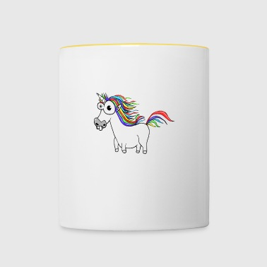 Unicorn Unicorn Cartoon Funny - Tofarvet krus