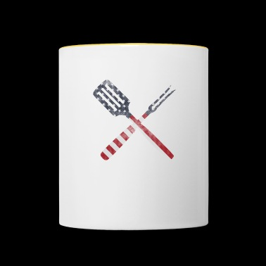 Cutlery stars and stripes - Contrasting Mug