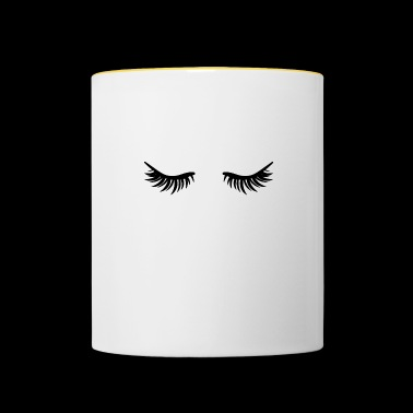 Closed eyes - eyelashes - Contrasting Mug