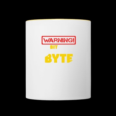 Warning One more bit and I'm going to byte nerd - Contrasting Mug