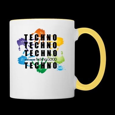 techno techno techno and more - Kubek dwukolorowy