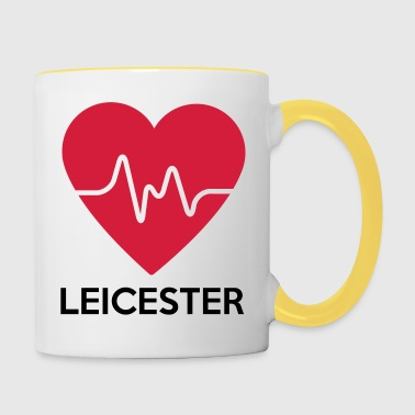 heart Leicester - Contrasting Mug