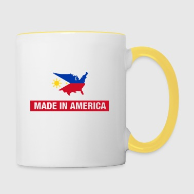 Made In America With Filipino Parts Philippines - Contrasting Mug