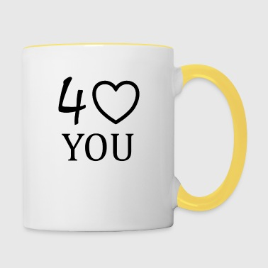 Gift for the partner of the 40th birthday - Contrasting Mug