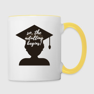 High School / laurea: così, l'Adulting Begins. - Tazze bicolor