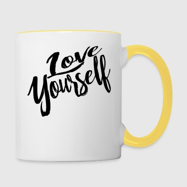 love yourself - Contrasting Mug