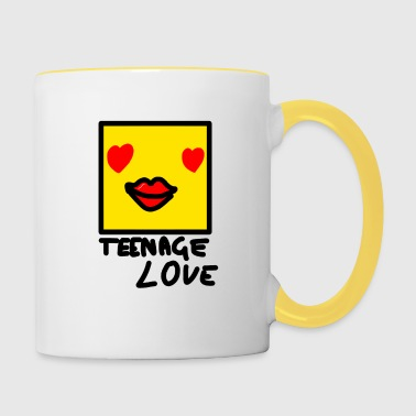 Self Picture Girl: Teenage Love - Contrasting Mug