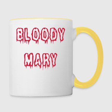 Bloody Mary bloody font - Contrasting Mug
