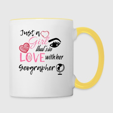Just a girl that's in love with her Geographer - Contrasting Mug