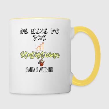 Be nice to the statistician Santa is watching you - Contrasting Mug
