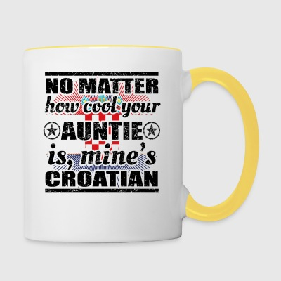 no matter auntie cool aunt gift Croatia png - Contrasting Mug