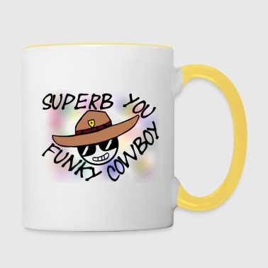 Superb You Funky Cowboy - Taza en dos colores