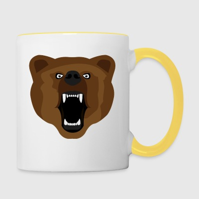 Ours / Ours / Медвед / agressif - Tasse bicolore