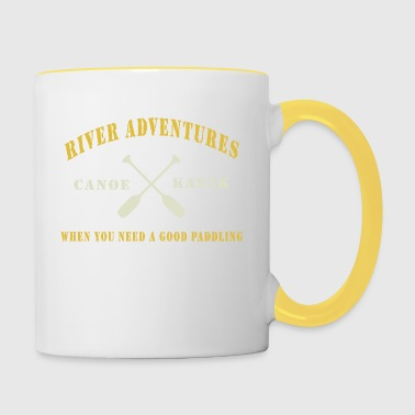 Canoe and Kayaking - Contrasting Mug