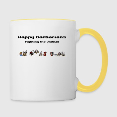 Happy Barbarians - Fighting the undead - Tasse zweifarbig