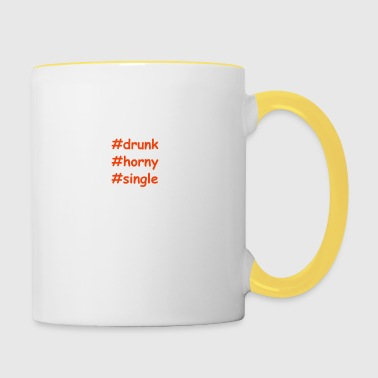 drunk-horny-single - Contrasting Mug