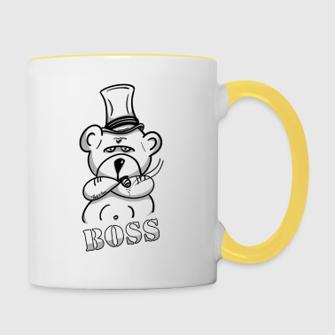 The bear as boss, investor and entrepreneur - Contrasting Mug