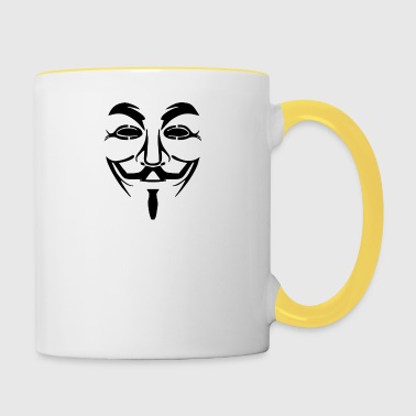 Masque Anonyme Image PNG - Tasse bicolore